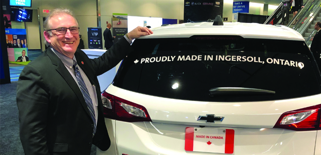 Town of Ingersoll is Recognized at the 2019 Canadian International Autoshow