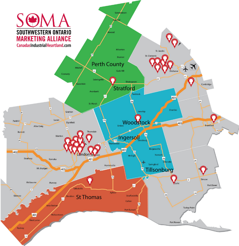SOMA Region Research and Innovation Centres
